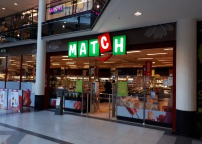 Herinrichtingswerken MATCH Shoppingcenter Gent Zuid
